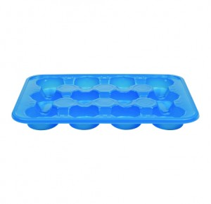 PS RECTANGULAR CUP TRAY 12 CAVITIES MODEL 3